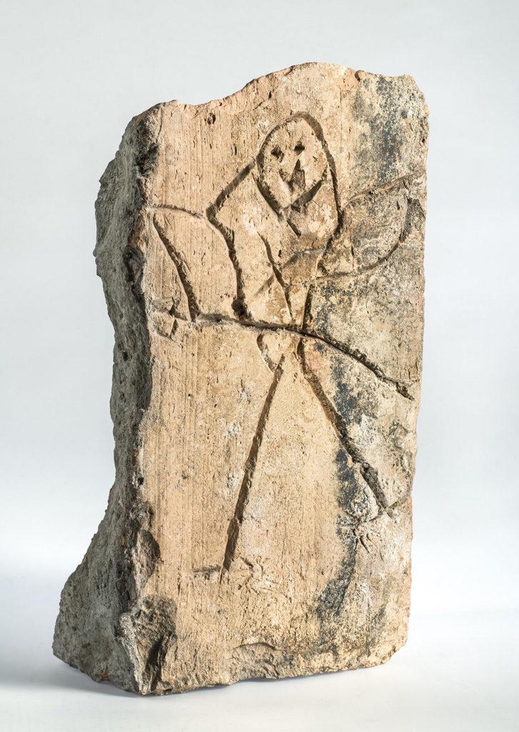 Stein mit Ritzzeichnung, Foto: Friedhelm Hoffmann